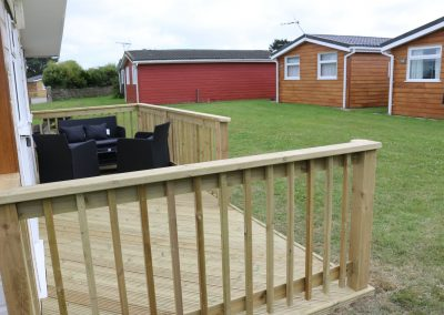 Grass area to front of chalet