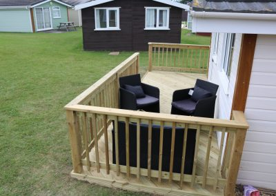 Decking at Chalet 160