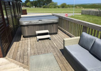 Hot tub and decking area