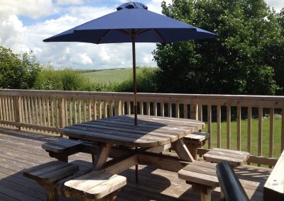 Relax on the decking area